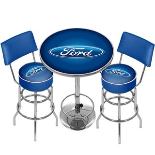 Ford Game Room Combo - 2 Stools w/Back & Table