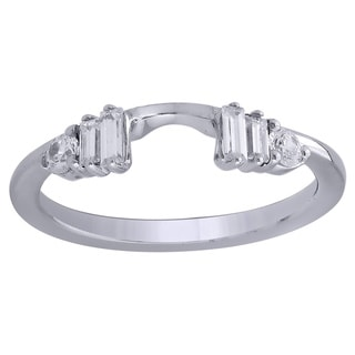 14K White Gold 1/3cttw Diamond Wrap Wedding Ring