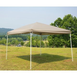 Naturefun White/ Beige Steel-frame PU-coated 10-foot Outdoor Pop-up Canopy Party Tent