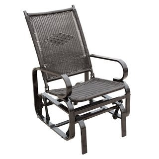 Naturefun Glider Rocking Lounge Chair, Black