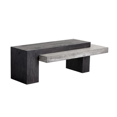Zoron Wood/Concrete Coffee Table