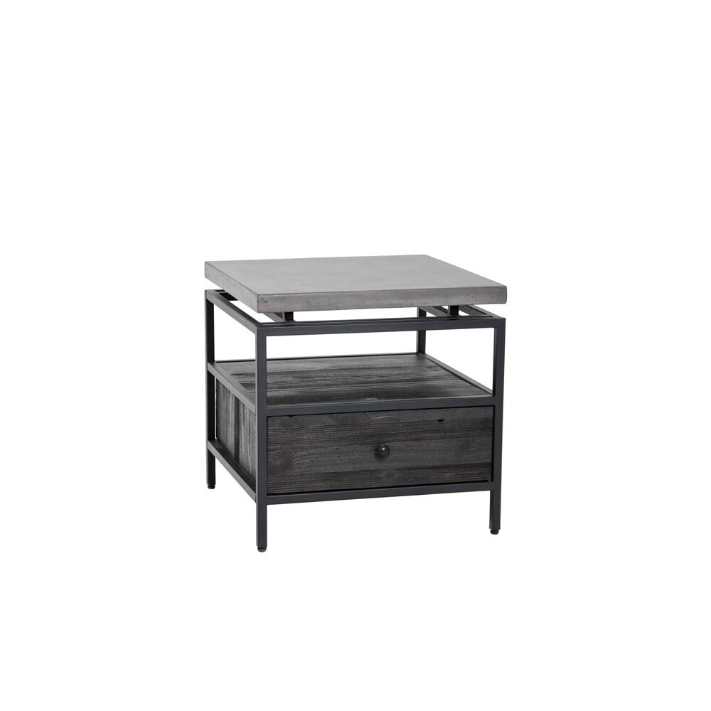 Sunpan Norwood End Table (Norwood END Table), Black