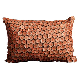 Mina Victory Button Collection Orange Throw Pillow (12-inch x 18-inch) by Nourison