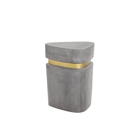 Arturo Grey Concrete Triangle End Table
