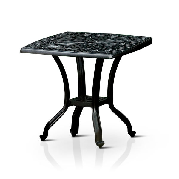 furniture of america garner contemporary outdoor antique black end table free shipping today. Black Bedroom Furniture Sets. Home Design Ideas