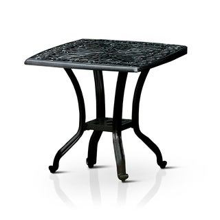 Furniture of America Garner Contemporary Outdoor Antique Black End Table