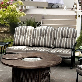 Furniture of America Garner Contemporary Outdoor Antique Black Cushioned Sofa