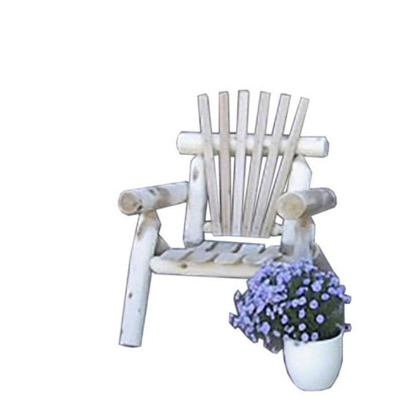 White Cedar Log Rustic Adirondack Lawn Chair