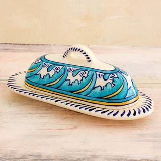 Handcrafted Ceramic 'Quehueche' Butter Dish (Guatemala)
