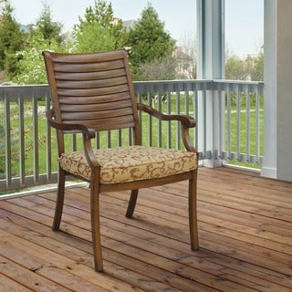 Furniture of America Mesa Contemporary Metal Brown Cushioned Patio Arm Chair (Set of 2)