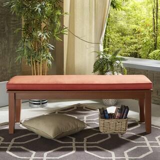 Yasawa Wood Brown 55-inch Patio Cushioned Dining Bench by NAPA LIVING