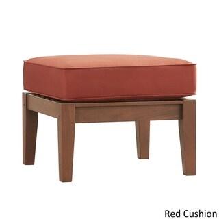 Yasawa Brown Wood Outdoor Ottoman Stool with Cushion by NAPA LIVING