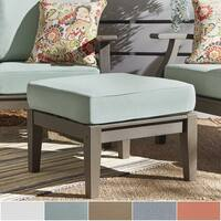 Yasawa Grey Wood Outdoor Ottoman Stool with Cushion iNSPIRE Q Oasis