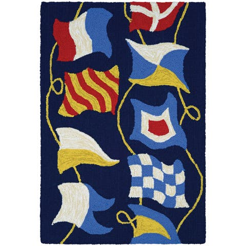 Couristan Covington Accents Regatta Hand-Hooked Area Rug (2' x 3') - 2' X 3'