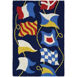 Couristan Covington Accents Regatta Polypropylene Hand-Hooked Rug (2' x 3')