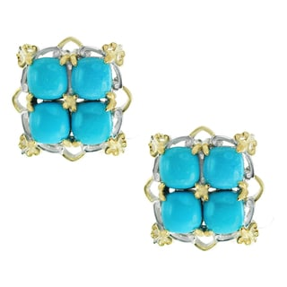 One-of-a-kind Michael Valitutti Sleeping Beauty Turquoise Stud Earrings