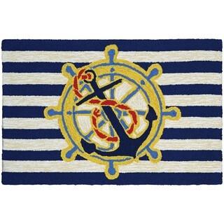 Couristan Covington Accents Ahoy Blue Area Rug (2' x 3')