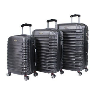 World Traveler California II Polycarbonate and ABS 3-piece Expandable Hardside Lightweight Spinner Luggage Set|https://ak1.ostkcdn.com/images/products/12896495/P19654166.jpg?impolicy=medium