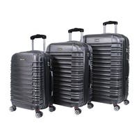World Traveler California II Polycarbonate and ABS 3-piece Expandable Hardside Lightweight Spinner Luggage Set