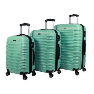 World Traveler California II Polycarbonate and ABS 3-piece Expandable Hardside Lightweight Spinner Luggage Set (3 options available)