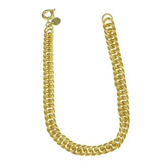 Isla Simone - 18 Karat Gold Electro Plated Groumette Link Chain Necklace