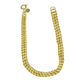 Isla Simone - 18 Karat Gold Electro Plated Groumette Link Chain Necklace|https://ak1.ostkcdn.com/images/products/12896504/P19654209.jpg?impolicy=medium