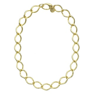 Isla Simone - 18 Karat Gold Electro Plated Yellow Large Twisted Link Necklace