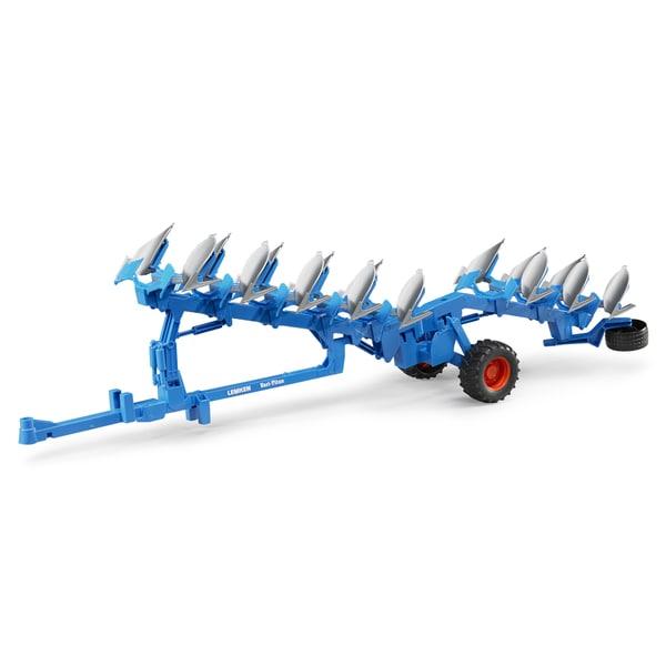 Bruder Toys Lemken Blue Metal Semi-mounted Reversible Plough