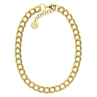 Isla Simone - 18 Karat Gold Electro Plated Double Twisted Link Necklace