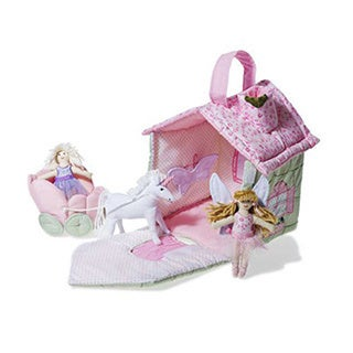 Oskar and Ellen 9-piece Fairy Cottage, Unicorn and 2 Fairies Soft Playset
