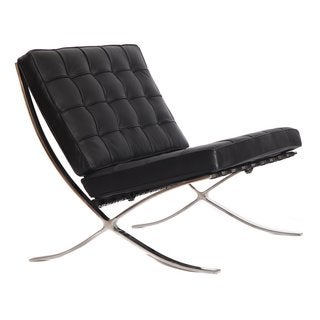 Mid-Century Modern Barcelona Italian Leather Pavilion Chair