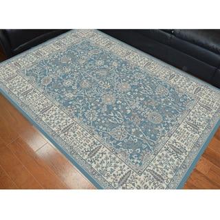 Machine-made Garden Blue Oriental Polypropylene Area Rug (7'10 x 9'10)