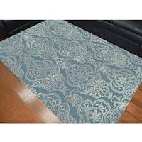 Oriental Victoria Blue Polypropylene Machine-made Area Rug (5'3 x 7'7)