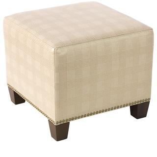 Skyline Furniture Polished Gold Nail Button Ottoman