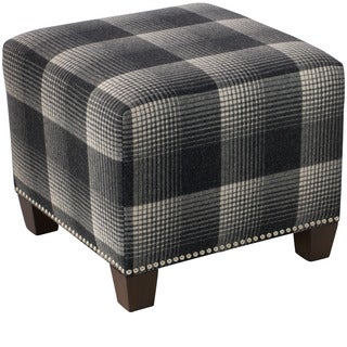 Skyline Furniture Aberdeen Flint Nail Button Ottoman