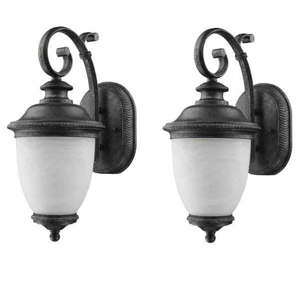 laurel designs belmont dark slate outdoor wall light pack of 2