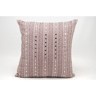 Mina Victory Luminescence Diamond Stripe Lavender Throw Pillow (20-inch x 20-inch) by Nourison