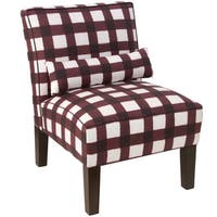 Skyline Furniture Buffalo Square Holiday Red Oga Armless Slipper Chair