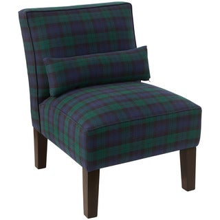 Skyline Furniture Pine/Polyester Blackwatch Armless Slipper Chair