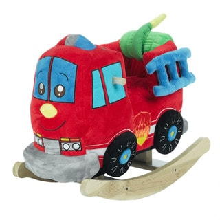 Rockabye Blue/Red Plush Firefighter Rocker