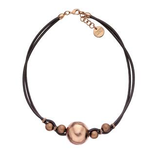 Isla Simone - 18 Karat Rose Gold Electro Plated Ball And Brown Cord Choker|https://ak1.ostkcdn.com/images/products/12896653/P19654353.jpg?impolicy=medium