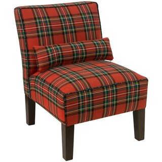 Skyline Furniture Ancient Stewart Red Plaid Armless Slipper Chair
