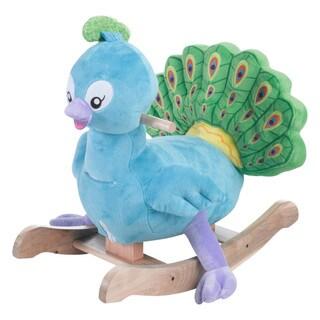 Rockabye Blue Green Poppy Peacock Rocker