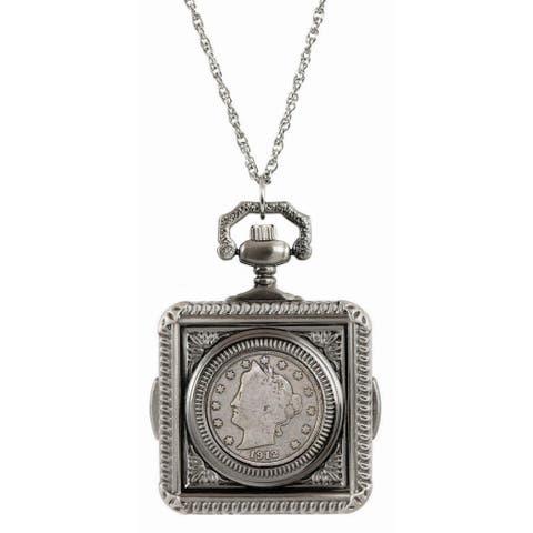 American Coin Treasures Liberty Nickel Pocket Watch Pendant Necklace