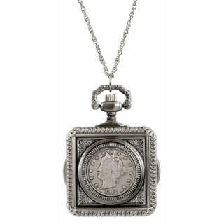 American Coin Treasures Liberty Nickel Pocket Watch Pendant Necklace