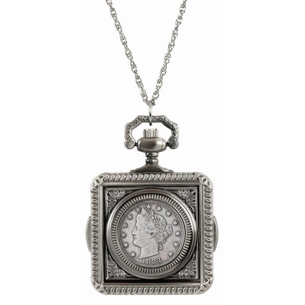 American Coin Treasures 1883 First-year-of-issue Liberty Nickel Pocket Watch Pendant Necklace