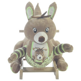 Rockabye Unisex Roo Roo Kangaroo Green/Brown Rocker