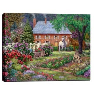 Cortesi Home Chuck Pinson 'The Sweet Garden' Giclee on Canvas Wall Art