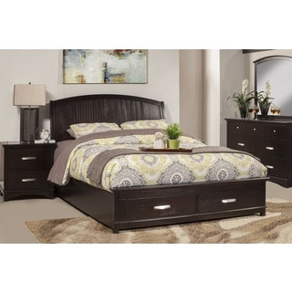 Alpine Madison Espresso Wood Storage Platform Bed