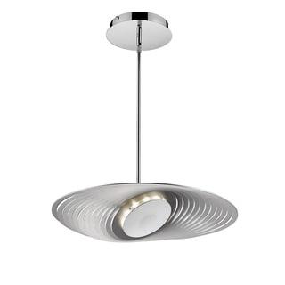 Iberlamp by Golden Lighting Geo Chrome Steel Large LED Pendant Light